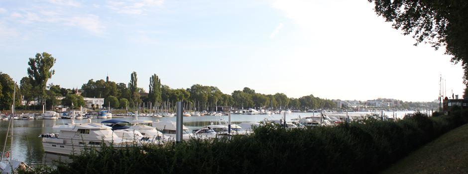 Yacht kracht in Ruderboot: Sportboot-Unfall in Wiesbaden