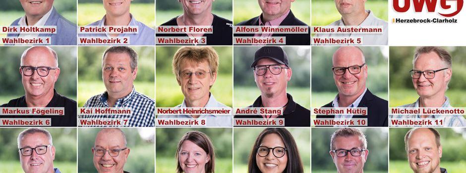 Kommunalwahl: UWG Herzebrock-Clarholz