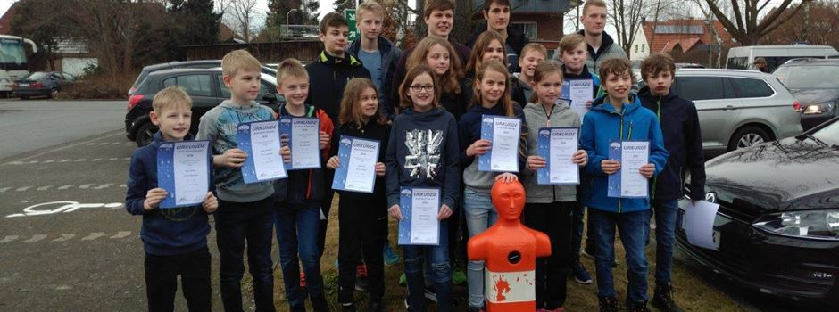 DLRG Herzebrock-Clarholz erfolgreich bei den Bezirksmeisterschaften