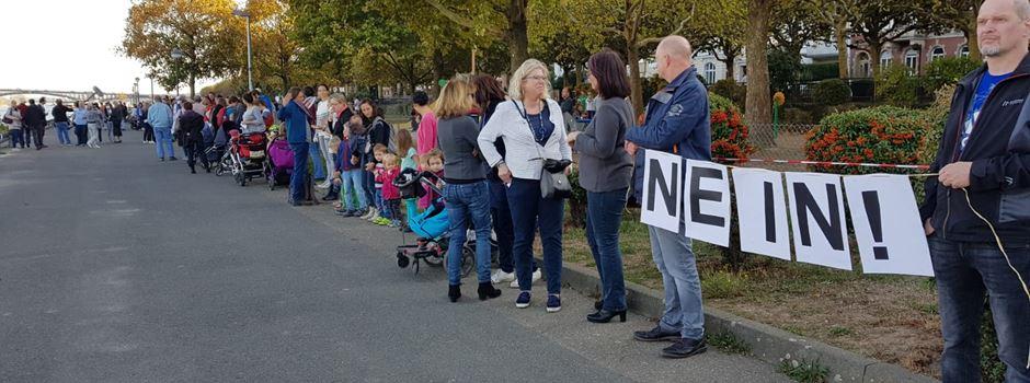 Protest gegen geplante Schiffsanleger in Mainzer Neustadt