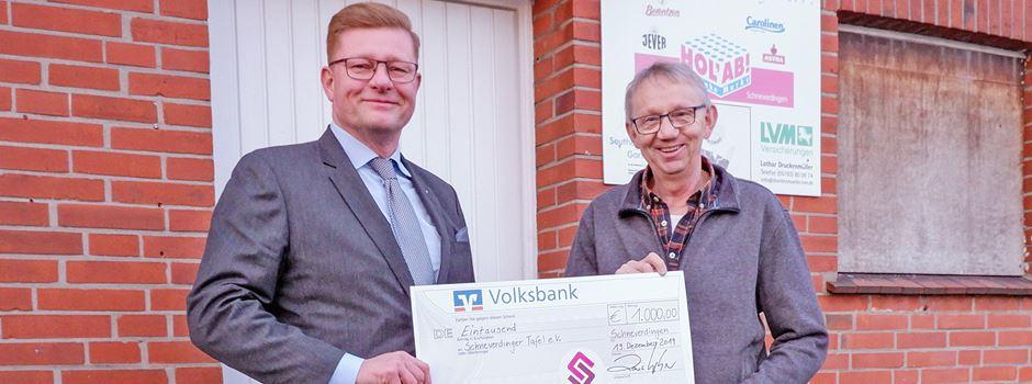 """""""Wertvolle Arbeit für das Gemeinwohl"""": 1.000 Euro für die Schneverdinger Tafel"""