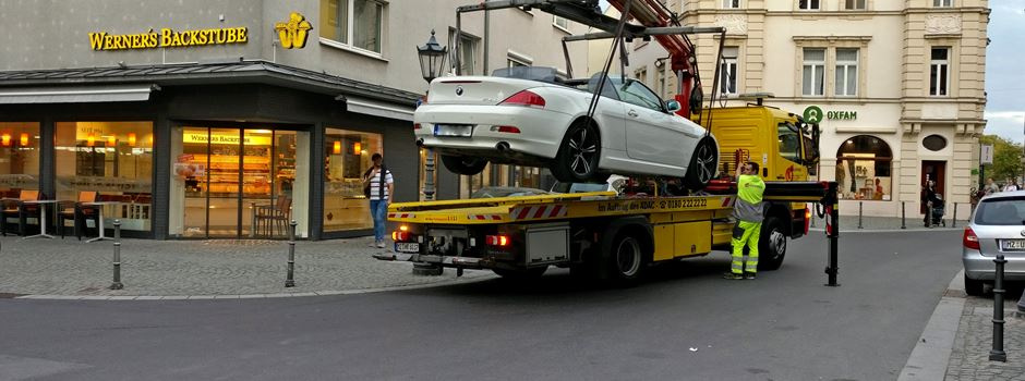 Wird in Mainz zu schnell abgeschleppt?