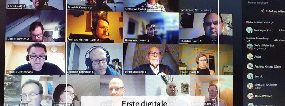 Erste digitale Vorstandsversammlung