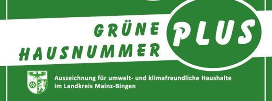 """Jetzt noch für """"Grüne Hausnummer PLUS"""" bewerben"""