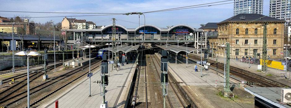 Bahnstrecke zwischen Hauptbahnhof und Mombach wird gesperrt