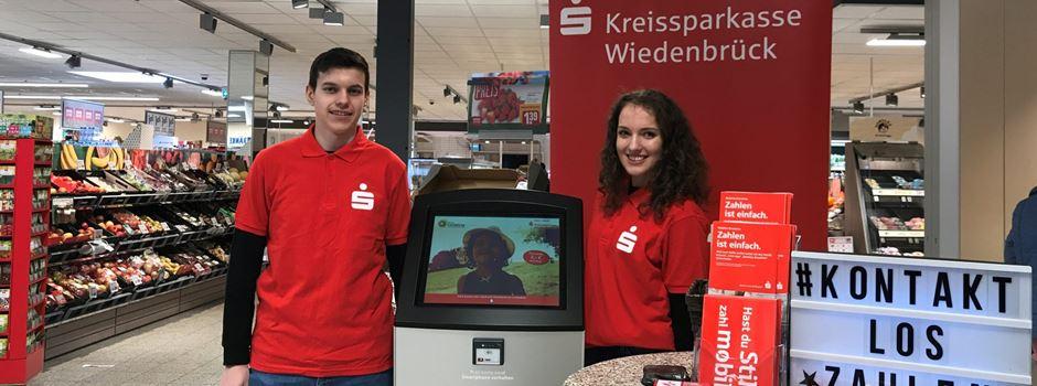 Werbung: Payment-Aktion der Auszubildenden der Kreissparkasse Wiedenbrück