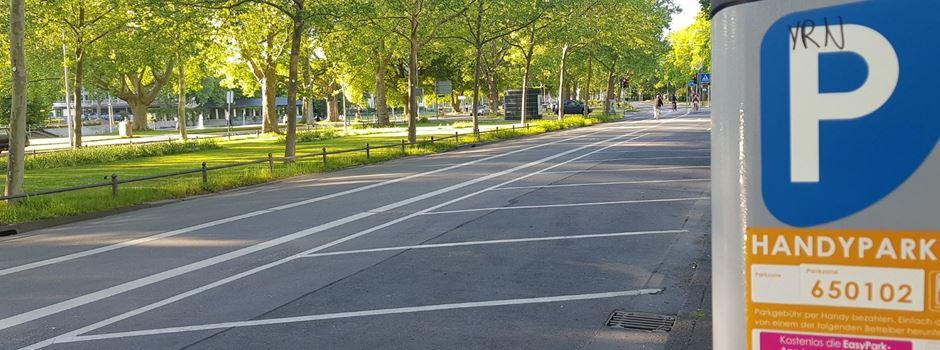 Parken in der Friedrich-Ebert-Allee wird früher kostenlos