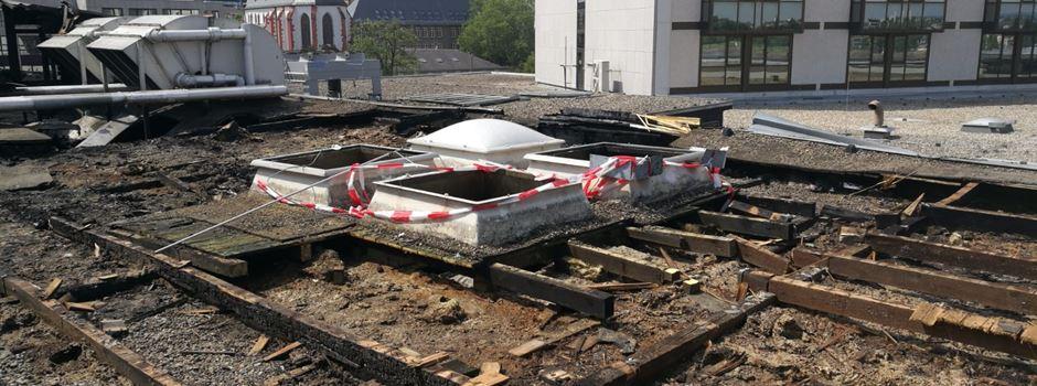 Wie die Rheingoldhalle nach dem Brand aussieht