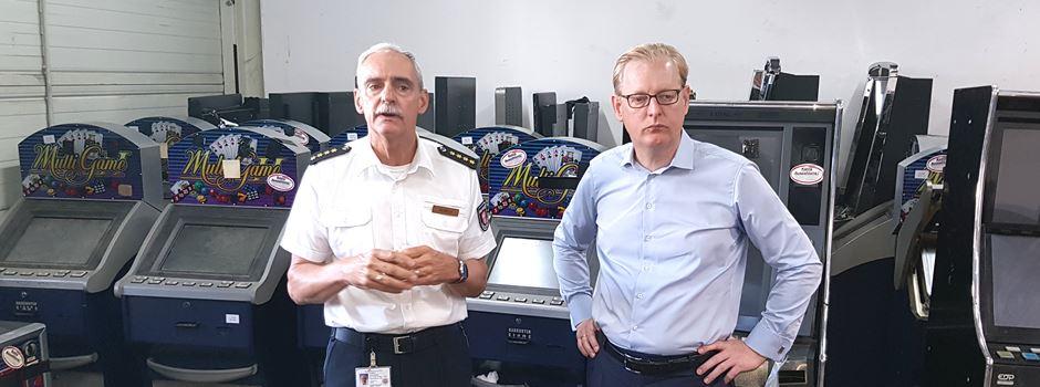 46 illegale Spielautomaten zerstört