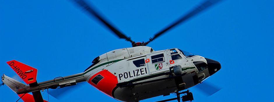 Einbrechersuche mit Hubschrauber