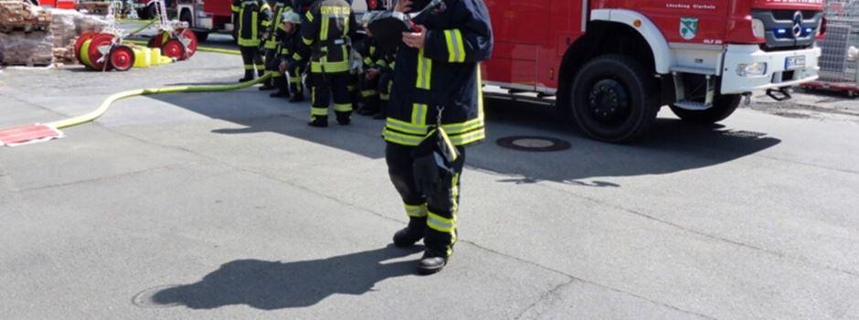 Spänebunker brennt in Clarholz
