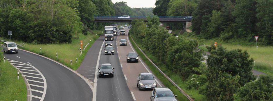 A643: Abfahrt Mombach gesperrt