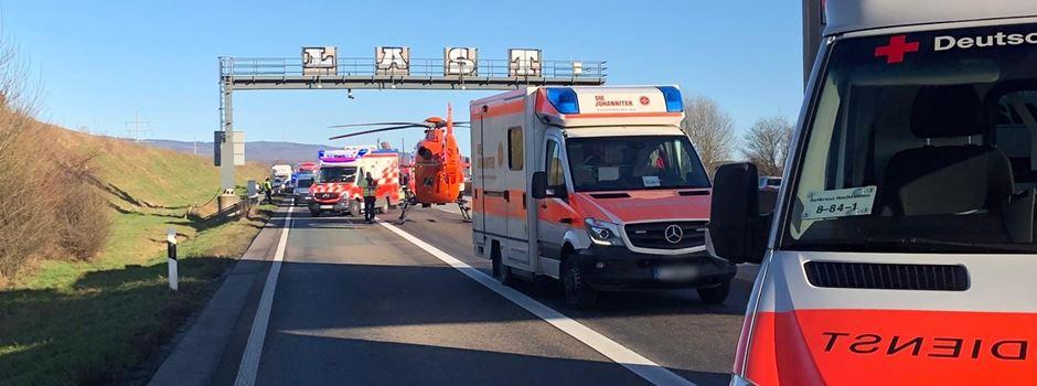 UPDATE: Unfall auf A5 endet tödlich