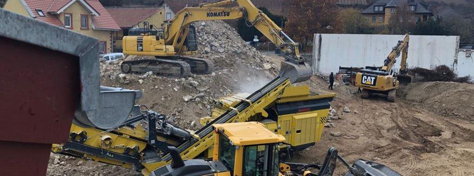 Die vorbereitenden Maßnahmen für den Baustart der Wohnresidenz Spiegelberg in Nierstein sind in vollem Gange.