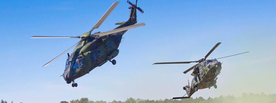 Humanitäre Hilfe mit Hubschraubern
