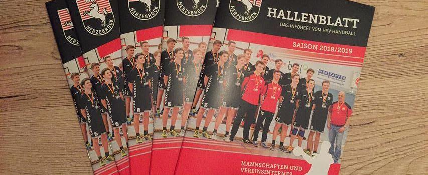 Hallenblatt – das Info-Heft vom HSV Handball
