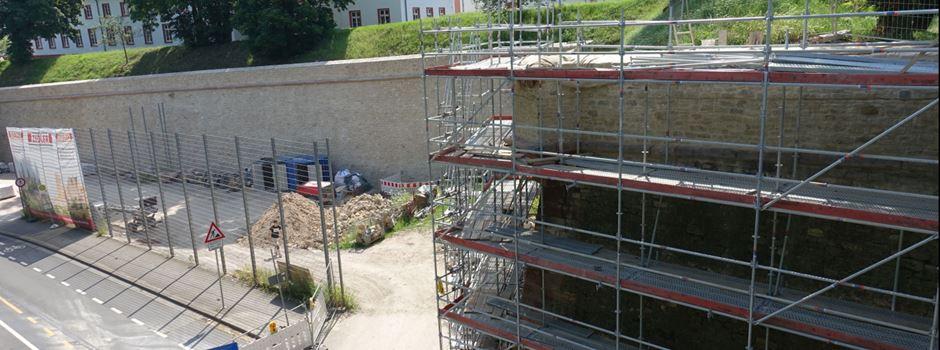 So laufen die Arbeiten an der Zitadellenmauer