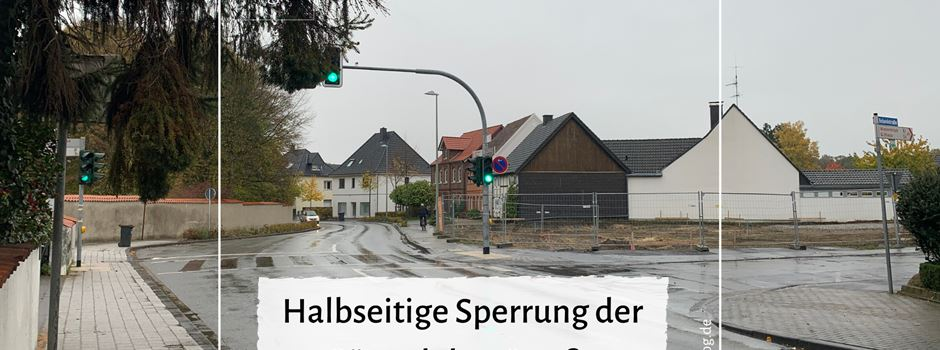 Halbseitige Sperrung der Gütersloher Straße