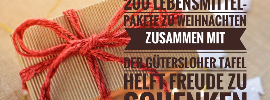 Weihnachtsaktion der Gütersloher Tafel in Herzebrock-Clarholz