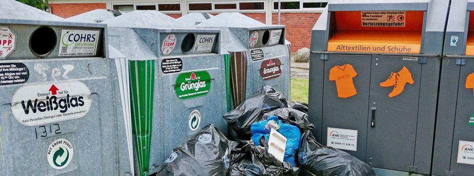 """Illegale Müllentsorgung an Containern ist """"ein stetiges Ärgernis"""""""