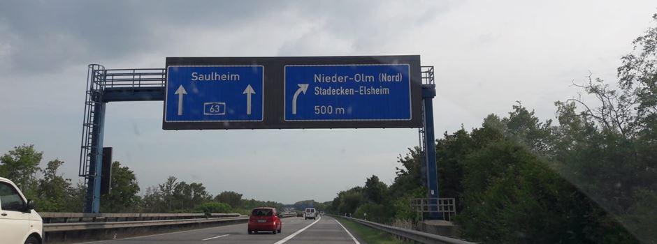 Warum auf der A63 zwischen Mainzer Kreuz und Nieder-Olm Tempo 100 gilt