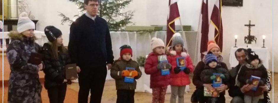 Weihnachtspäckchen für die Region Valmiera in Lettland
