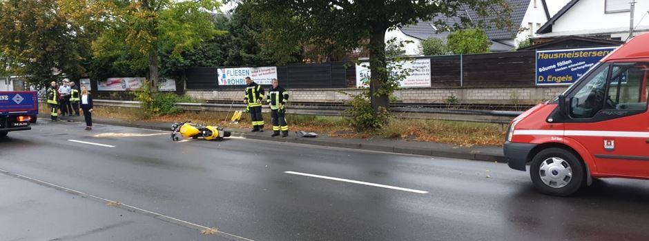 Unfall in Mondorf: Motorradfahrer schwer verletzt