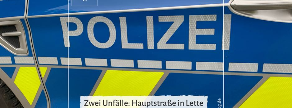 Zwei Unfälle: An der Hauptstraße Lette und auf der Oelder Straße in Herzebrock