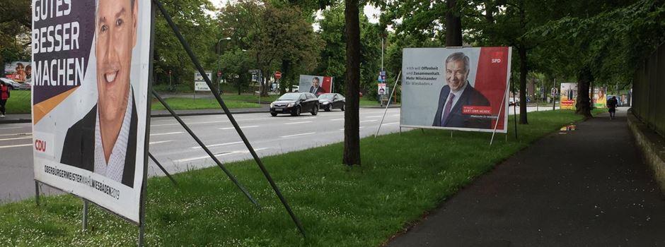 So werben die Wiesbadener OB-Kandidaten um ihre Wähler
