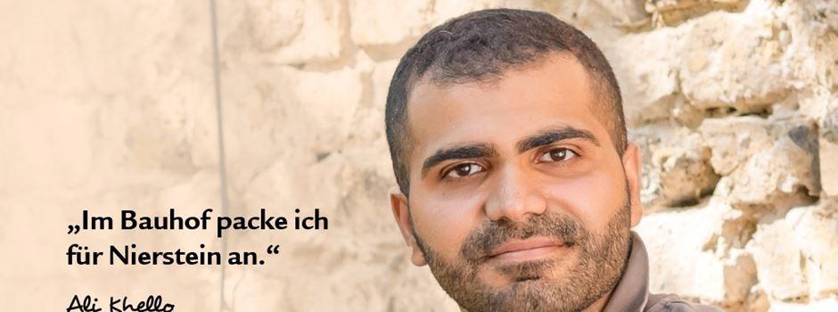 Niersteins Bauhof Praktikant Ali Khello will beim Wiederaufbau seiner zerstörten Heimat Syrien helfen