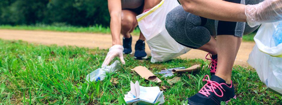 """""""Plogging"""" - Wie man in Wiesbaden etwas gegen Müll tun kann"""