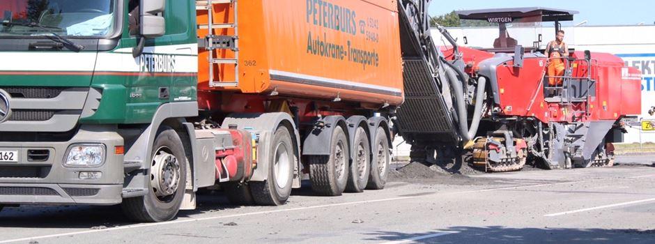 Sanierung 'Otto-Hahn-Straße' (K 52) Beschilderung wird nachgebessert