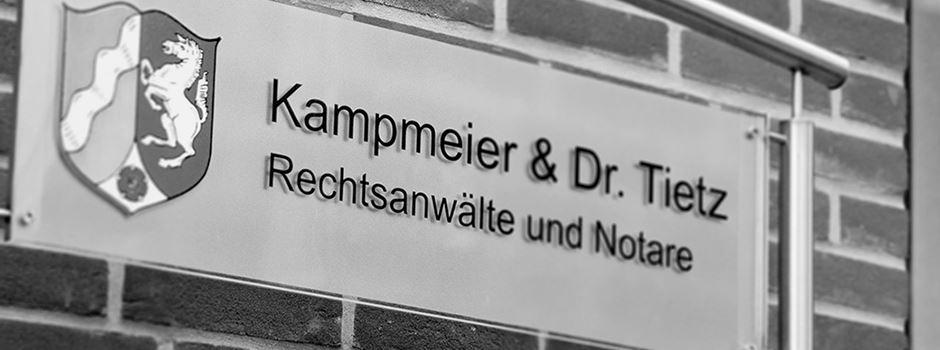 Stellenanzeige: Ausbildungsplatz: Rechtsanwalts- und Notarfachangestellte(r) bei Kampmeier - Dr. Tietz