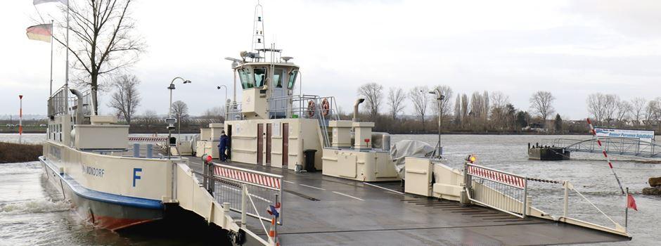 Rheinfähre stellt Betrieb kurzfristig ein