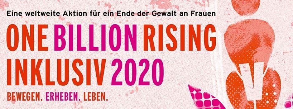 """One Billion Rising"" am 14. Februar vor dem Rathaus in Gütersloh"