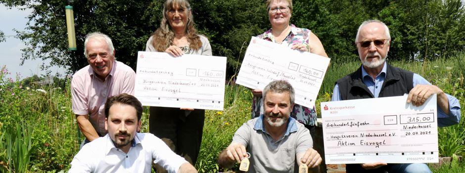 Niederkasseler Vereine erhalten Eisvogel-Spendengelder