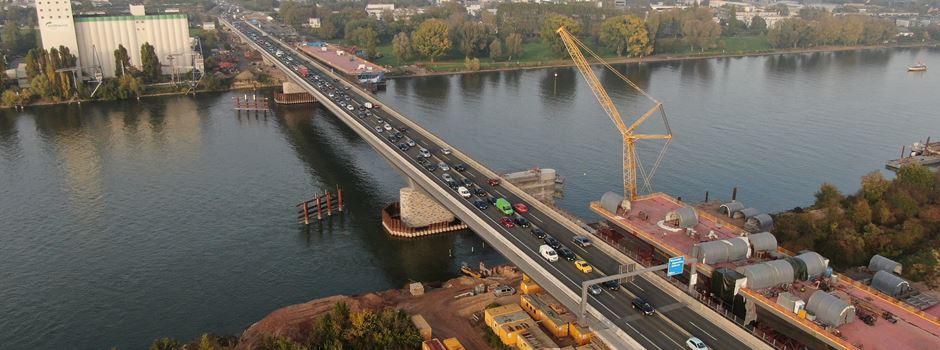 Schiersteiner Brücke: Abfahrt Mombach bis Freitag gesperrt