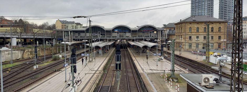 Sperrung am Mainzer Hauptbahnhof