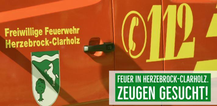 Feuer in Herzebrock-Clarholz - Zeugen gesucht