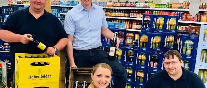 Stellenanzeige: REWE Anton Wiebe sucht Verkäufer für Getränkemarkt