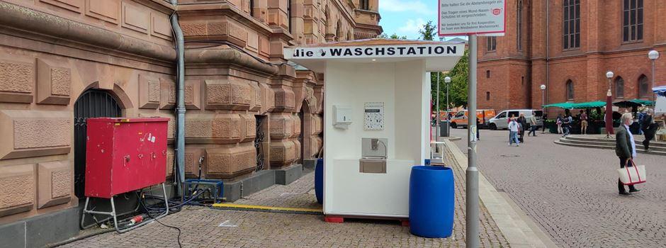Was es mit der Waschstation auf dem Wochenmarkt auf sich hat