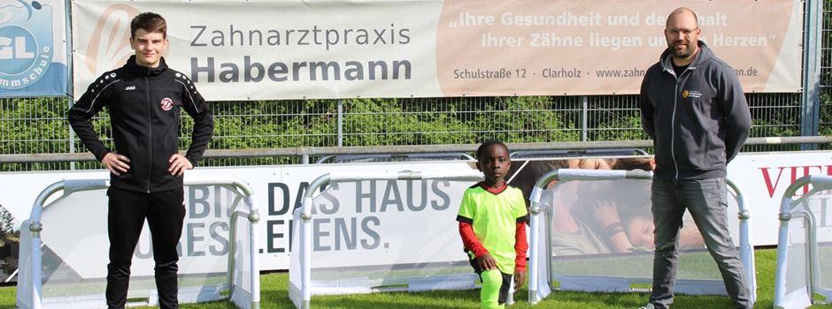Anzeige: Clarholzer Fußballjugendabteilung erhält 6 neue Mini-Tore