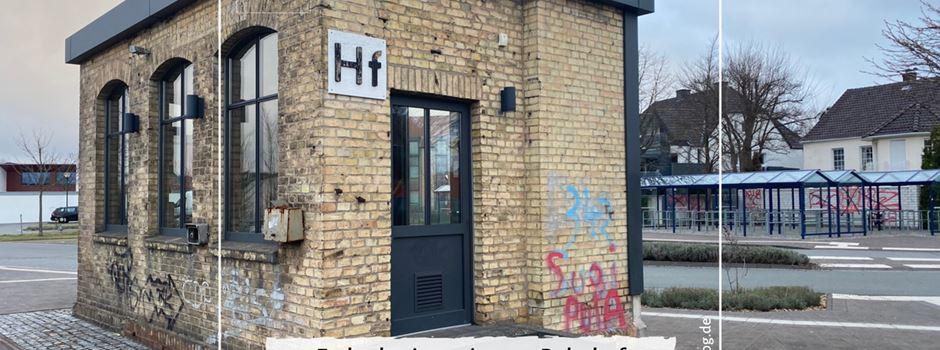 Zeugensuche: Farbschmierereien am Bahnhof