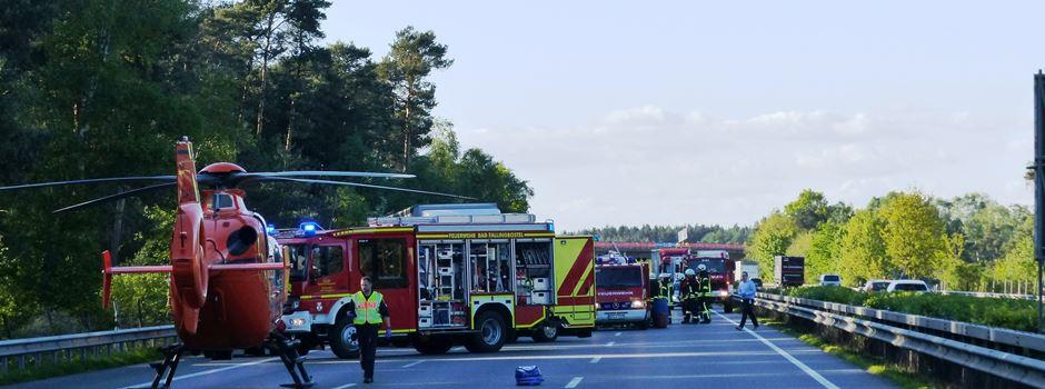 Erneut schwerer LKW-Unfall auf der A7