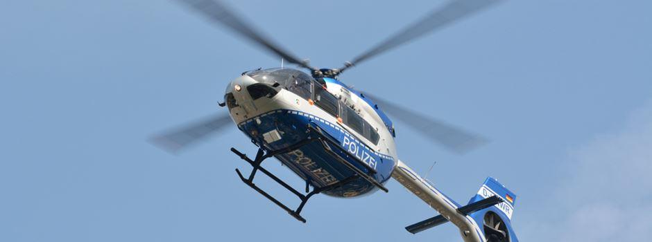 Vermisste mit Hubschrauber gesucht