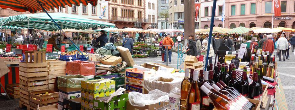 Maskenpflicht gilt auch auf dem Mainzer Wochenmarkt