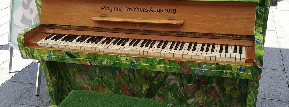 Play Me I'm Yours 2021: Bunte Klaviere zieren Augsburg