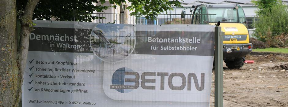 Neues Unternehmen gegründet: In Waltrop kann man bald Beton tanken