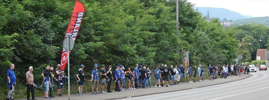 FCS-Fans demonstrieren für Spiele auf der Baustelle