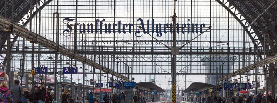 Fünf Verletzte bei Zugunfall in Frankfurt